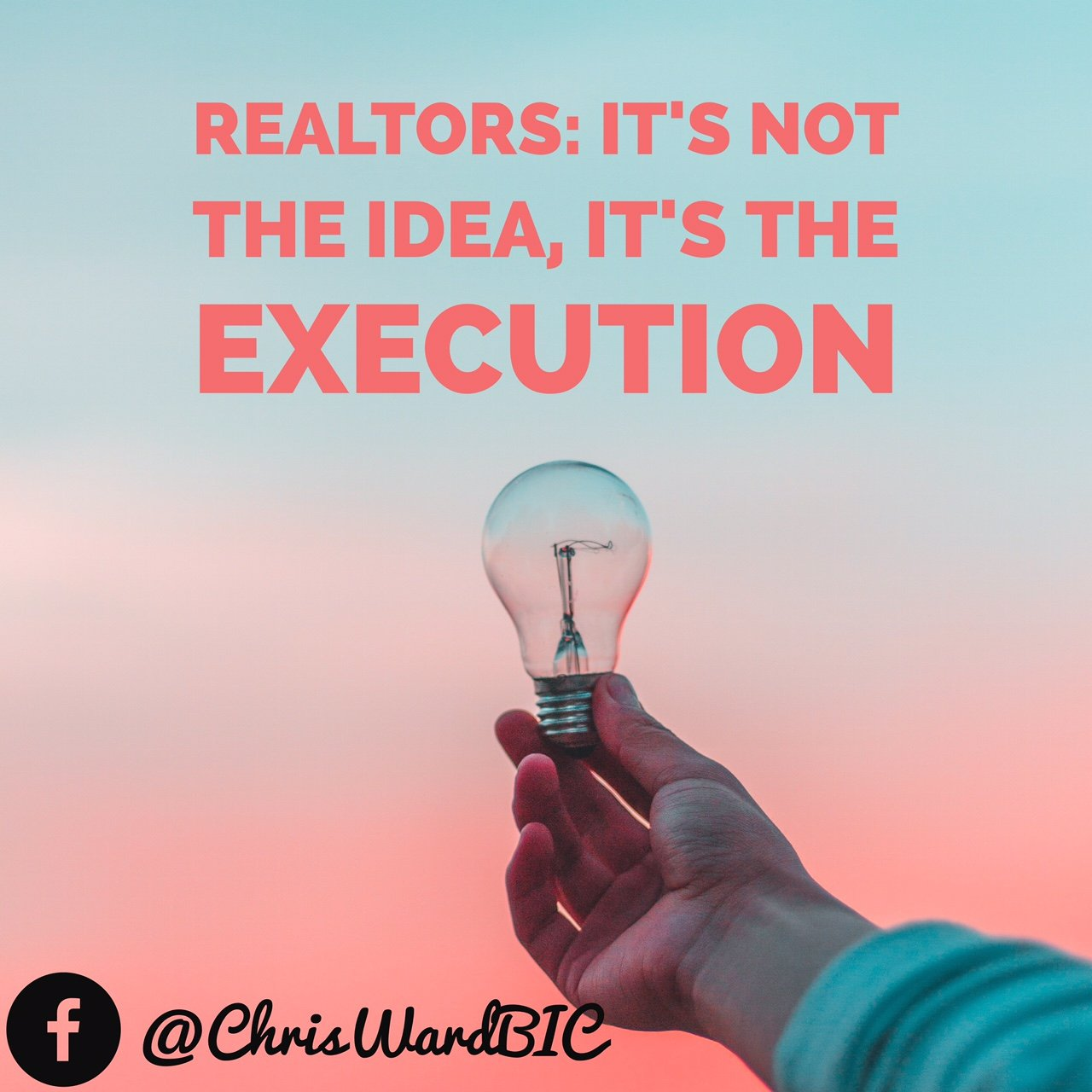 Realtors: It's Not The Idea, It's The Execution.