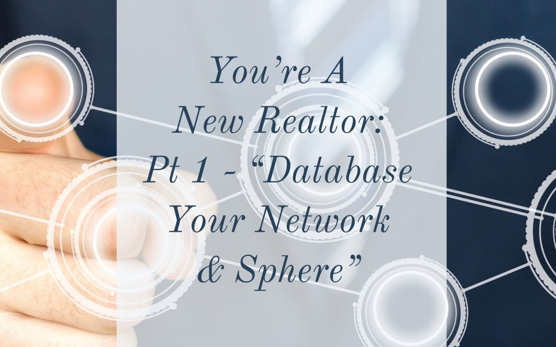 "You're A New Realtor: Pt 1 – ""Database Your Network & Sphere"""