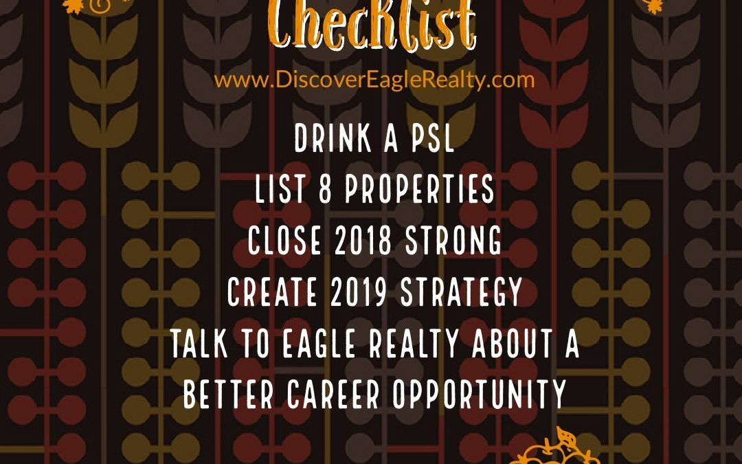 #Realtor Fall Checklist 2018