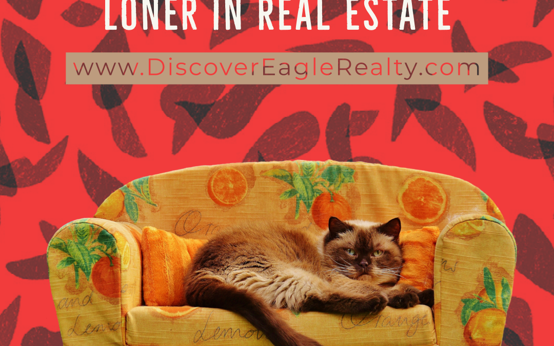 You Don't Have To Be A Loner in #RealEstate